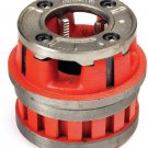 "Ridgid 37505 12-R Handheld Pipe Threader Die Head, 2"" NPT, High Speed RH Dies"