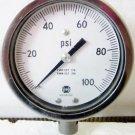 USG Pressure Gauge, 0-100 PSI 100PSI , 316 SST Tube & Connection
