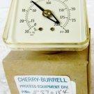Cherry-Burrell 5570184 Vacuum Pressure Gauge, 30In Hg VAC To 30 PSI , Waukesha