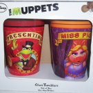 Kermit & Miss Piggy The Muppets Set of Two 16 Oz Glass Tumblers