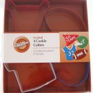 Wilton Football Metal Cookie Cutters 4 Piece Set