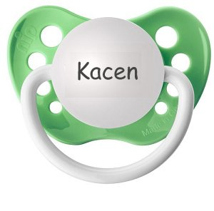 Personalized Pacifier - Kacen Pacifier - Personalized Binky- Name Pacifier- Name Binky- Kacen Binky