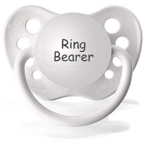 Ring Bearer Pacifier - Wedding Paci - NUK Pacifier 0-6 months - Wedding Binkie - Ring Bearer Binky