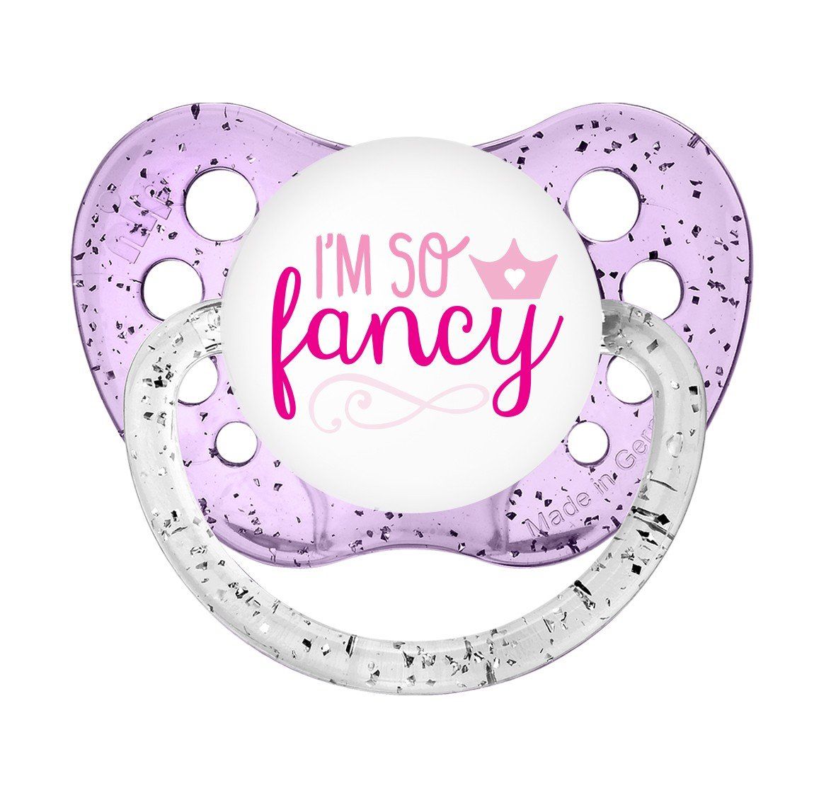 I'm So Fancy Binky - Ulubulu - 6+ months - Girls - Little Girl Soother - Glitter Pacifier