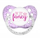 I'm So Fancy Binky - NUK Pacifier 6+ months - Little Girl Soother - Glitter Pacifier