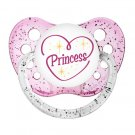 Princess Pacifier - Ulubulu Pacifier - 6+ months - Little Girl Dummy - Glitter Binky