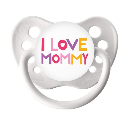 I love Mommy Binky - Baby Girl Soother - Ulubulu Paci - 6+ months - White Dummy