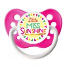 Little Miss Sunshine Pacifier - Ulubulu - Girls - Neon Pink - 6+ months Binky