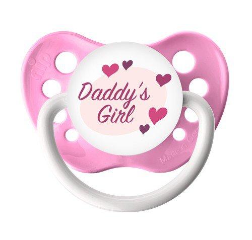 Daddy's Girl Pacifier - 6+ months - Pink - Girls - Ulubulu - Daddy's Girl Binky