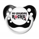 My Grandpa Rocks Pacifier - Ulubulu - 0-6 months - Black - Unisex - Guitar Binky