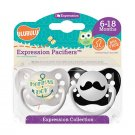 Momma's Boy Pacifier and Mustache Pacifier Set - 6+ months - Boys - Ulubulu