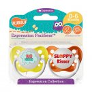 No Hablo Pacifier and Sloppy Kisser Pacifier Set - 0-6 months - Unisex - Ulubulu