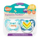 Smart And Loving Pacifier and Stripes Pacifier Set - Boys - Blue - Ulubulu - 0-6 months