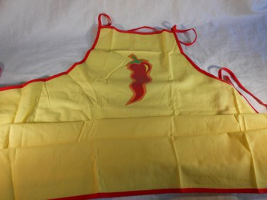 Yellow CHILI PEPPER APRON Kitchen PEPPERS (#38471)
