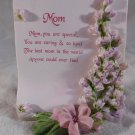 MOM Mini Scroll Decoration PLAQUE Gift for Mother's Day  (#38036)