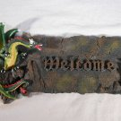 DRAGON WELCOME Wall PLAQUE Dragons Medieval Gothic Decor  (#33898)