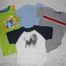 BOYS 4 Piece Lot Short Sleeve ONSIES Blues Clues Lion 18 Months 18M Kids Clothes