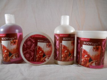 Body Logic POMEGRANATE FIG Body Lotion Butter Shower Gel Bath Salts BATH & BODY