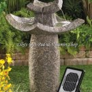 TEMPLE Solar Powered WATER FOUNTAIN Outdoor Garden Accent (#12844)