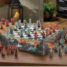 DRAGON BATTLE CHESS SET Glass Game Board Dragons Warriors Mythology  (#15191)