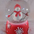 SNOWMAN Christmas SNOW GLOBE Holidays Decor Snow Man (#37657)