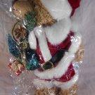 CHRISTMAS PLUSH BEAR Santa Claus Merry Christmas HOLIDAYS (#31509)