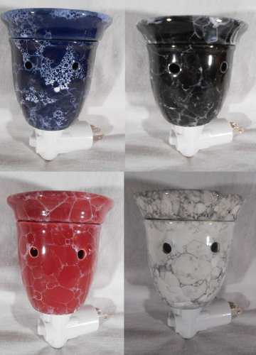 Plug In CANDLE WARMER Tart Melt Oil Warmer MARBLE CERAMIC Mia Bellas Candles