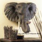 Noble ELEPHANT HEAD Wall Decor SAFARI Wildlife Animal Decor Elephants (#12611)