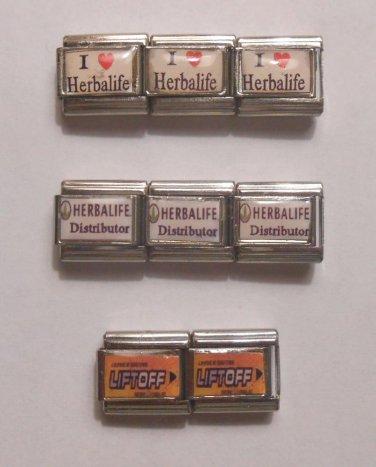 HERBALIFE Distributor Custom Made ITALIAN CHARMS 9mm LIFTOFF I Heart Herbalife