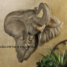 ELEPHANT HEAD Wall Decor SAFARI Animal Decor Elephants Pachyderm (#14940)
