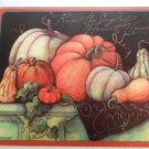 HARVEST Bounty Glass CUTTING BOARD Pumpkins Gourds TANKSGIVING (#13305)