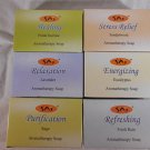 Sai AROMATHERAPY SOAP 6 Different Scents SANDALWOOD Lavender RAIN Sage (#35341)
