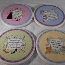 DIVAS 4 Piece COASTER SET Santa Barbara Ceramic Design DIVA'S (#35794)