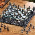 Black DRAGONS CHESS SET Glass Game Board Dragon Warriors (#15190)