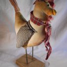 CHICKEN Fabric Figurine Chickens Barnyard Decor (#37359)
