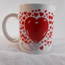 HEARTS Design Ceramic COFFEE MUG Cup VALENTINES DAY