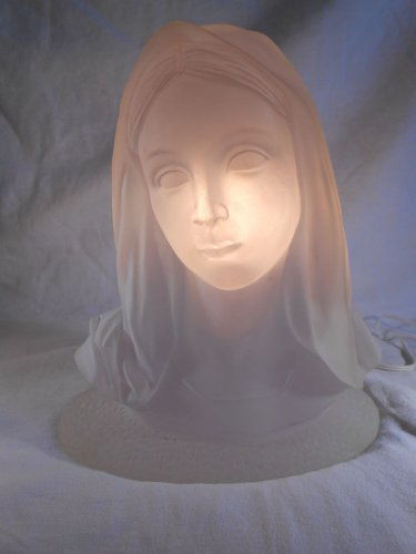 MARY Sculpted Head LIGHTS UP Religious Night Light (#34325)