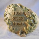 GARDEN STONE Home Sweet Home ROCK Snail Butterfly Hummingbird (#36151)