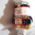SNOWMAN Plug In CANDLE WARMER Tart Melt Oil HOLIDAYS CERAMIC Mia Bellas Candles