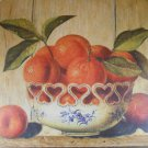 COUNTRY ORANGE Canvas Print WALL ART Fruit Bowl (#38423)