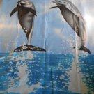 "DOLPHIN FLEECE BLANKET Bedding Throw Dolphins 60"" x 50"" (#37248)"