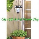 Solar Powered HUMMINGBIRD Hanging PLANT BASKET Outdoor GARDEN Decor (#14630)