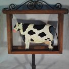 Wooden COW Wall Hook For Keys Or Coat BARNYARD Animal (#35114)