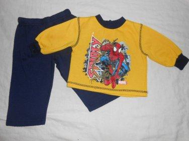 BOYS 2 Piece Set SPIDER MAN SWEATS 18 Months 18M Kids Clothes Sweatshirt Pants