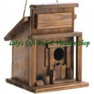 Western Saloon BIRDHOUSE Outdoor SPRING TIME Garden Decor Bird House (#14651)