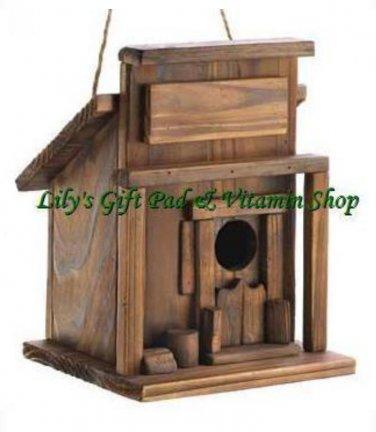 Western Saloon BIRDHOUSE Outdoor SPRING TIME Garden Decor Bird House (#14651)