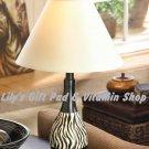 ZEBRA Stripe LAMP Zebras SAFARI Animal Home Decor Lamps Single Or Set (#37982)