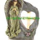ANGEL & CROSS Solar Powered GARDEN Light Statue Divine Sentinel (#14642)