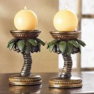 PALM TREE CANDLE HOLDERS Tropical Theme COCONUT Trees Candleholder (#36006)