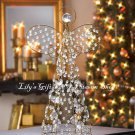 Beaded Golden ANGEL Figurine HOLIDAY DECOR Christmas Tree Topper  (10015359)